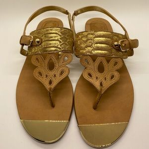 Isola Sandals NWT  Gold/leather Sandals Si…